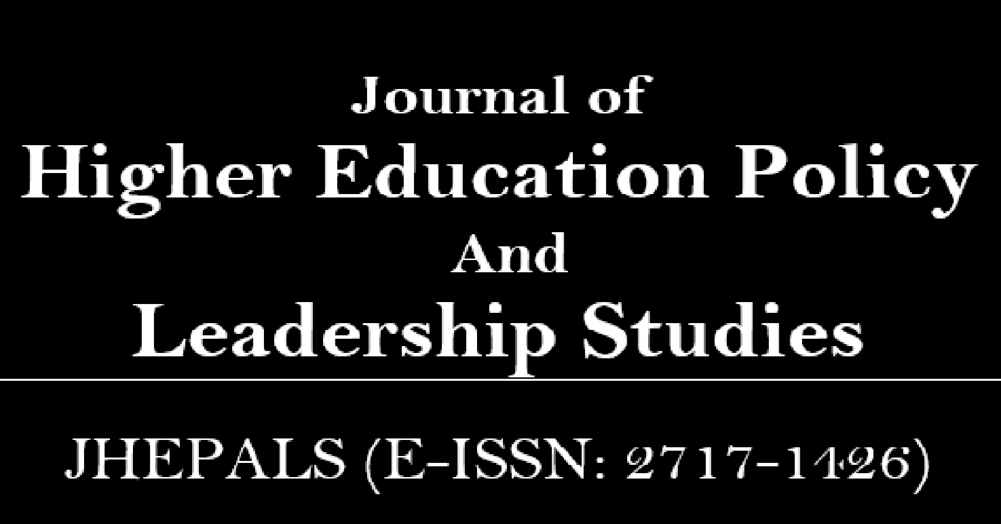 Journal of Higher Education Policy And Leadership Studies